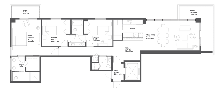 Bay house miami residences for Bay house plans
